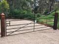 Blacksmithed Angle Iron Farm Gate
