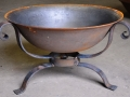 750mm Firebowl & wrought iron stand