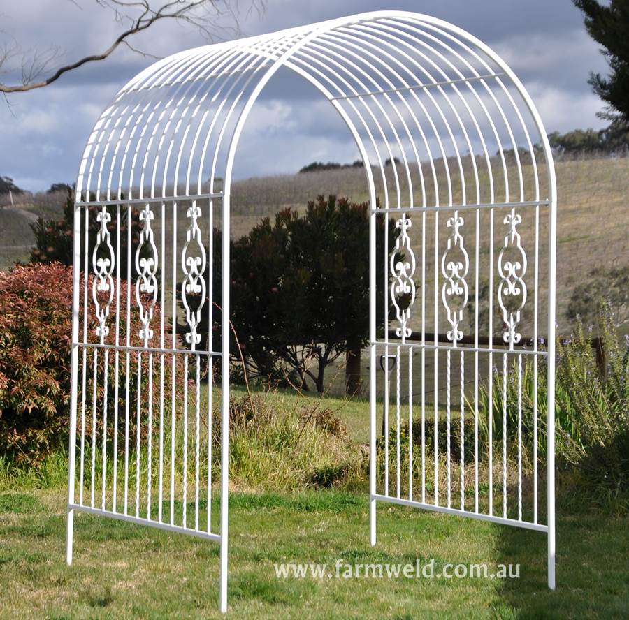 Garden arches rose arbours farmweld for Garden arches designs
