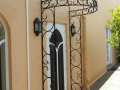 Wrought iron door canopy, North Adelaide
