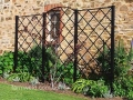 Traditional steel wall trellis
