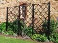 Traditional steel wall trellis