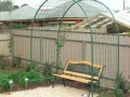 round top garden arch with mesh sides