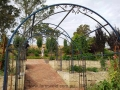 Wrought iron garden arch detail