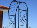 Custom ormamental wrought iron garden arch