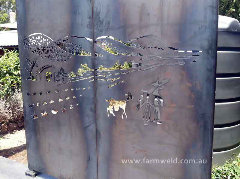 Metal Garden Art Metal Wall Art Australia Farmweld