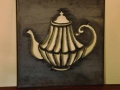 Teapot metal wall art