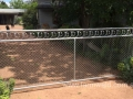 Cyclone Circle gate with Chain mesh insert