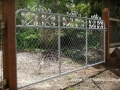 Kensington chain mesh gate 3600mm