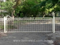 Maddison driveway gate and side fence panels