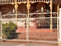 Victorian woven wire driveway gates