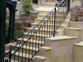 Wrought Iron balustrade - side view. Bridgewater, SA