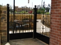 Wrought iron fence panel
