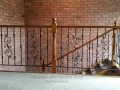 ornamental wrought iron landing balustrade