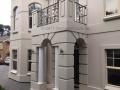 Decorative wrought iron balustrade