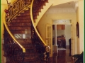 Brass handrail.