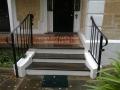 Balustrade added to a return verandah villa