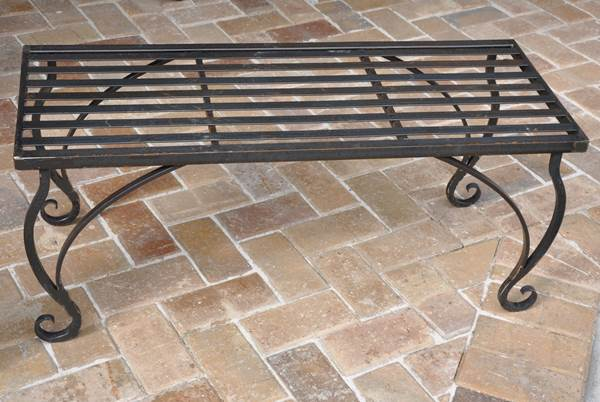 Wrought Iron Bench Part 52
