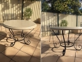 Wrought iron cafe table base