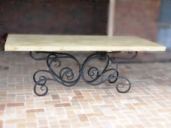 Wrougth Iron Dining Table. Wrought ... Part 82
