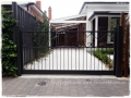 Victorian style sliding gate