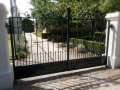 Wrought iron driveway gates, hand forged