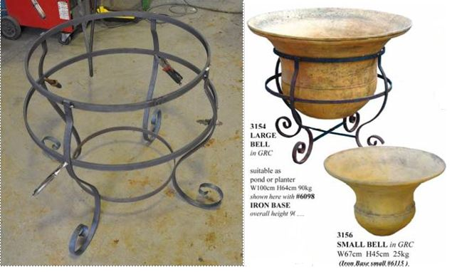 wrought iron stand for large stone pot