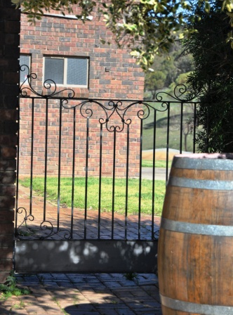 Wrought iron garden gate, NSW