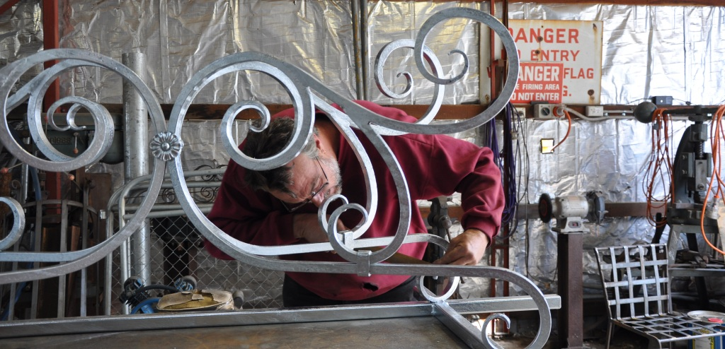 Andrew Hood pays great attention to detail with each item of wrought iron