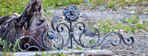 Ornamental wrought iron gate topper