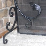 Photo of fire screen feet. Fireplace screen is made by Adelaide blacksmith Andrew Hood. The Birdwood forge is open by appointment.