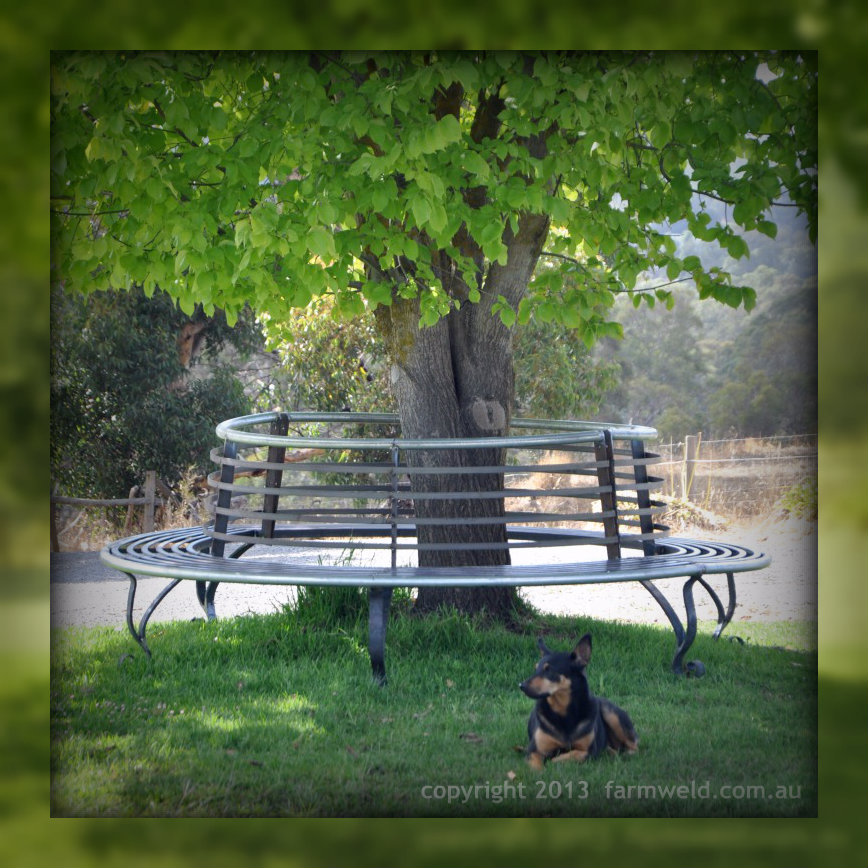 Wrought Iron Tree Seat And Steel Tree Bench Farmweld