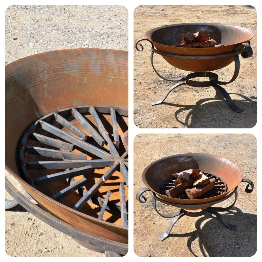 Fire pit with fire grate