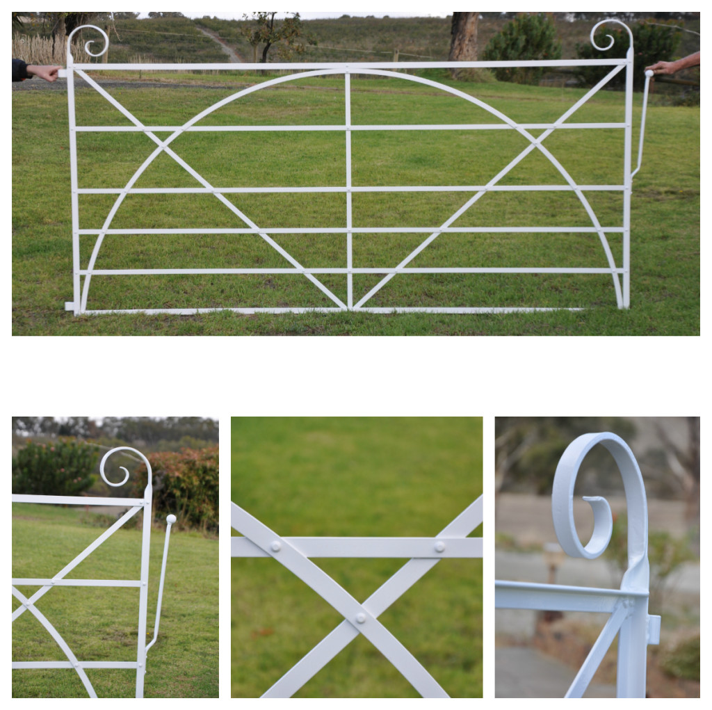Hand forged heritage farm gate