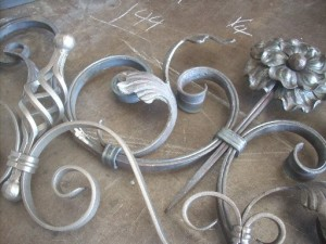 Pre-made wrought iron components