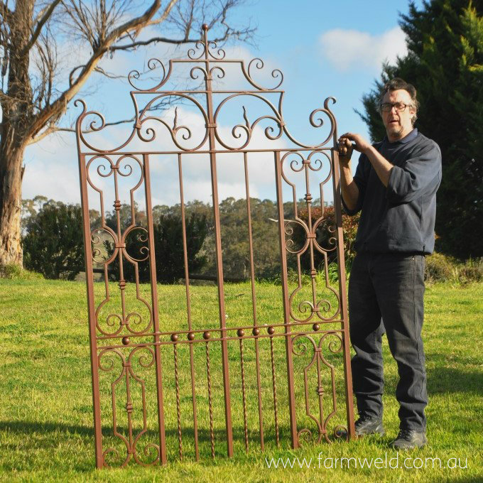 hand forged courtyard gate