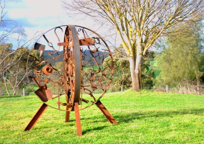 Steel memorial garden sculpture, Adelaide hills