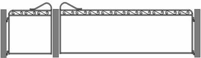 Maddison mesh gate