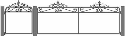 Victorian woven wire gate