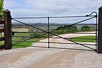 heritage style farm gates with horizontal bars