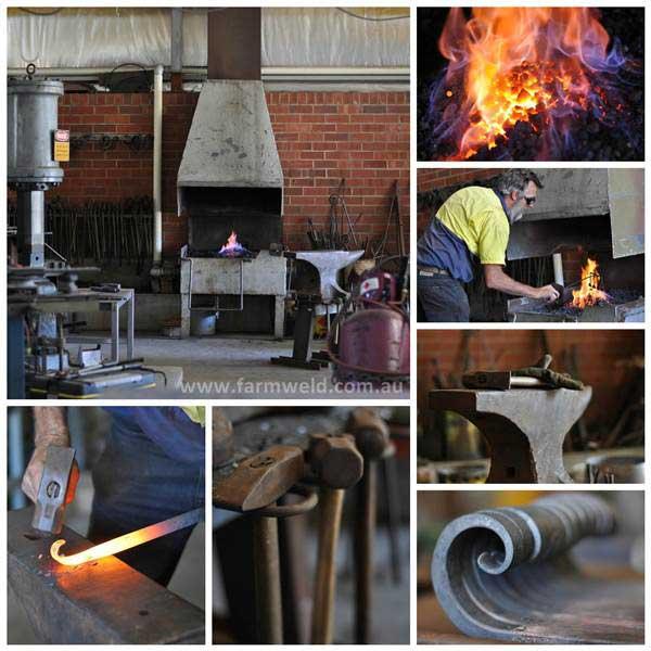 Farmweld forge, blacksmith at work