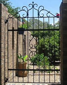 Art Deco wrought iron gate