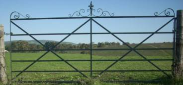 Eleanor wrought iron heritage style gate is an attractive alternative to a boring farm gate.