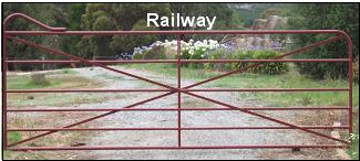 The Railway gate suits contemporary and older style homes and farm properties.
