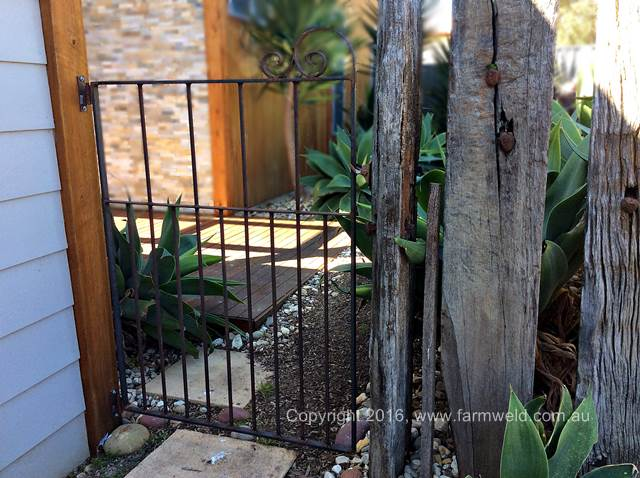 Pet safe wrought iron gate